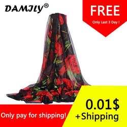 Пляжные саронги яркий цветной шарф с розами шаль Сексуальная Для женщин Летний Бикини Cover up большой парео Гавайское платье Обёрточная