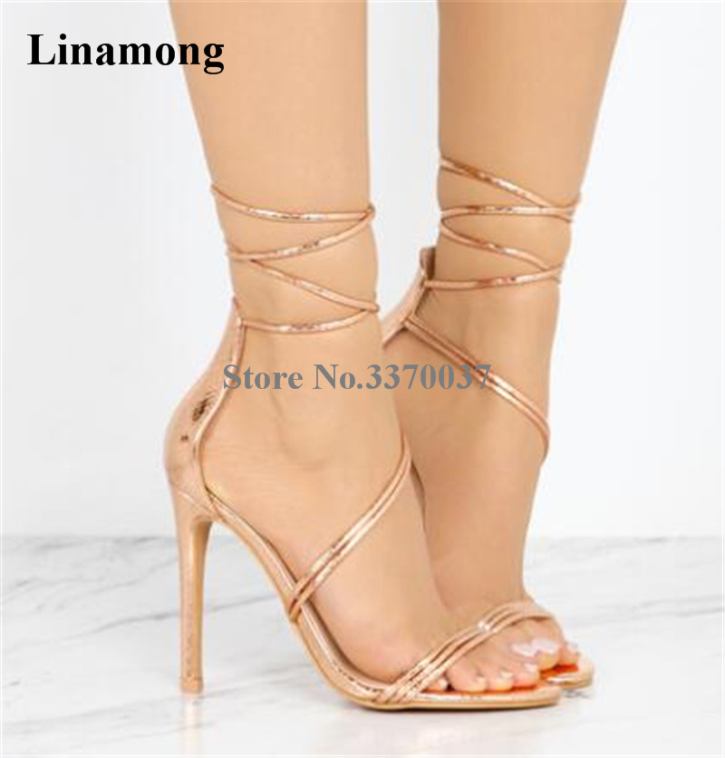 New Design Women Fashion Open Toe Strap Cross Gladiator Sandals Cut-out Gold Black Lace-up High Heel Sandals Dress Shoes hot selling women summer new fashion open toe silver leather gladiator sandals cut out strap cross high heel sandals dress shoes