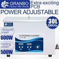 Промышленный изготовленный на заказ 30L Ультразвуковой очиститель 28 кГц/40 кГц 0-600 Вт регулируемое управление нагревателем оборудование инже...
