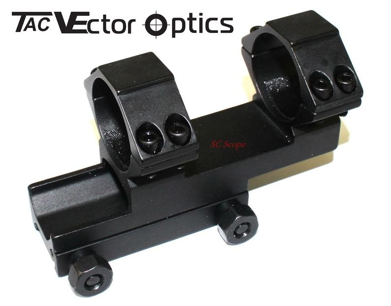 30mm RifleScope OnePiece Extended Style Weaver Mount Double Rings 20mm Base|ring shoe|ring mount|ring carbon - title=