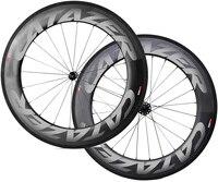 700C Ruedas de bicicleta de carbono ruedas de carbono 88mm Ruedas de bicicleta de carbono 700C bicicleta de carretera juego de ruedas de carbono DT 350