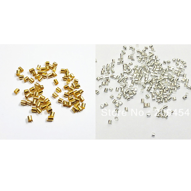 c8aeb367a0 Wholesale ! 2mm About 10000pcs/bag Silver/Gold Color Tube Beads-in Jewelry  Findings & Components from Jewelry & Accessories on Aliexpress.com | ...