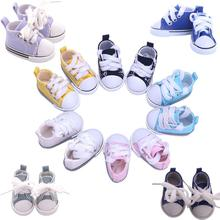 RCtown 5CM Fashion Denim Canvas Mini Toy Shoes 1/6 for 18 Inch Doll Accessories