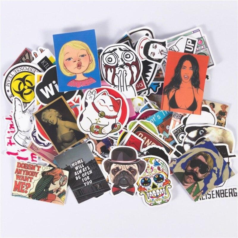 50/100/200pcs Not Repeat Cartoon Graffiti Stickers DIY Waterproof Skateboard Laptop Car Luggage Wall Art Decal 2028