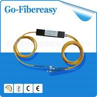 FTTH 1x2 Optic Fiber Coupler PLC Splitter, Box Module, SC/UPC Connector 1.5meters