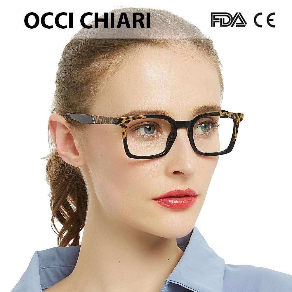 OCCI CHIAR Leopard Anti Blue Light Reading Glasses Women Anti-fatigue Computer Eyeglasses +1.75 +2.25 +2.5+2.75 +3 +3.5 OC5018