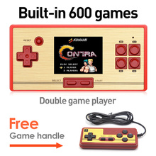 "Classic Double Against FC Connected TV Consol 2.6 ""Inch Screen Handheld Game Console Built -in 600 Games Children Handheld Game"