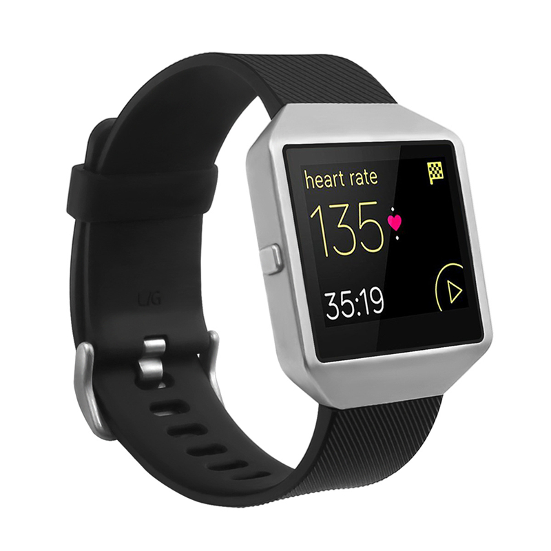 Bemorcabo for Fitbit Blaze Band,Silicon Bracelet Replacement Strap with New Silver Frame for Fitbit Blaze Smart Fitness Watch fohuas for fitbit blaze bands soft silicone replacement sport strap band for fitbit blaze smart fitness watch no frame page 1
