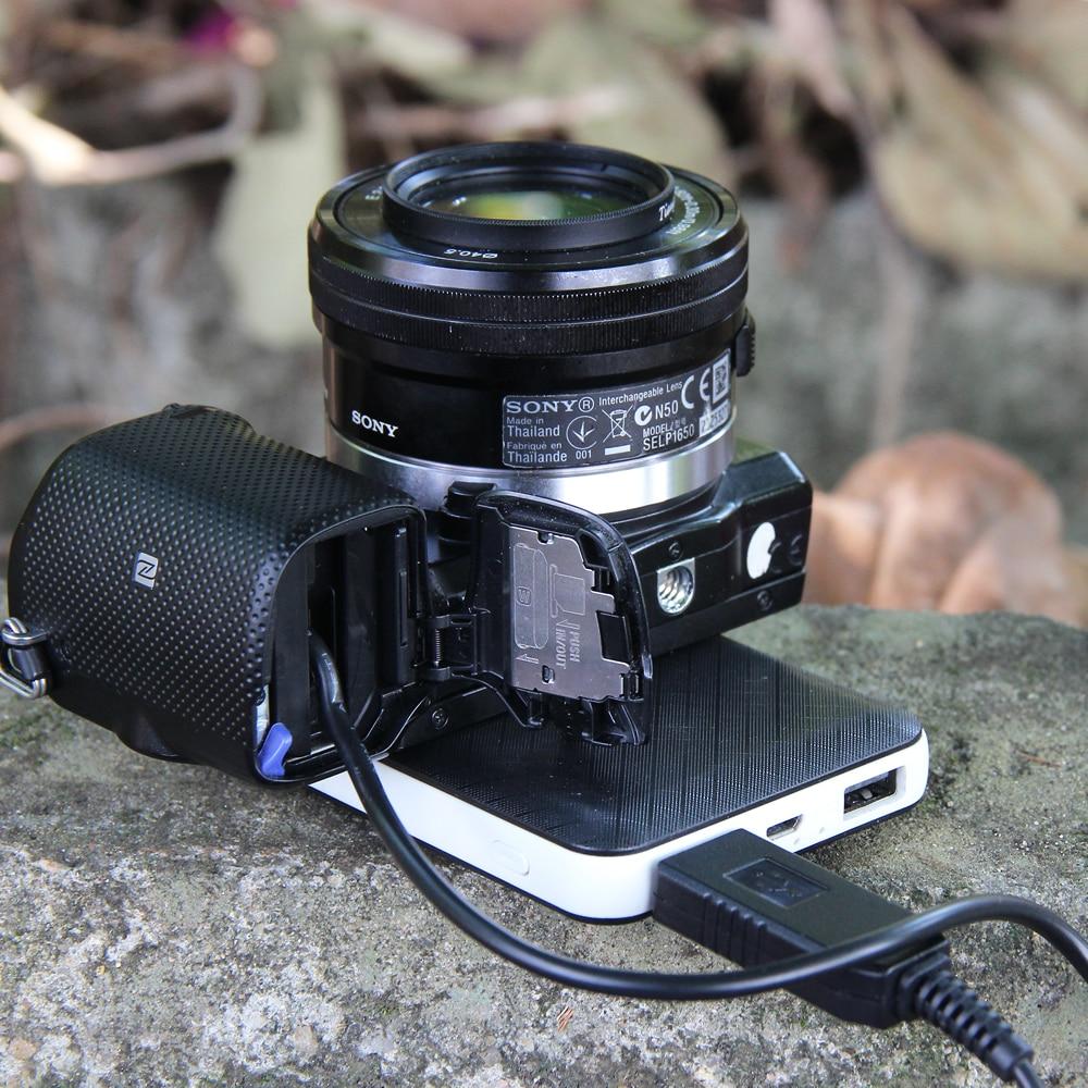 Image 5 - 5V USB NP FW50 Dummy Battery AC PW20 DC Coupler Power Adapter for Sony Alpha 7 a7 a7S a7II a7R A3000 A5000 A6000 NEX5 NEX3 NEXnp-fw50 dummynp-fw50 dc couplerpower coupler -