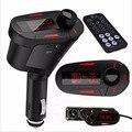 LCD Carro auto Kit LCD MP3 Player de Música Sem Fio de alta velocidade cartão de memória MMC Transmissor FM Com Controle Remoto de alta quanlity Red ~