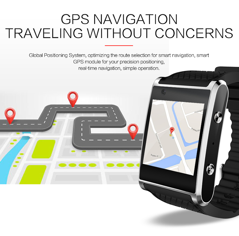 f1b0e290c0c Fashion New Android 5.1 Smartwatch bluetooth watch sportwatch with front  camera support GPS Nano SIM Card WIFI