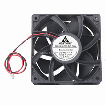 10PCS Gdstime 12038 12cm 120mm DC 48V 0.15A 2 Wires Double Ball Bearing Cooler Cooling Fan nmb 12cm 4715sl 05w b60 12038 24v 1 2a cooling fan