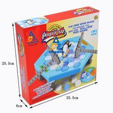 Grande pinguim armadilha ativa engrenagem de festa jogo de tabuleiro interior gelo quebra brinquedos de entretenimento de mesa para o brinquedo de aniversário das crianças