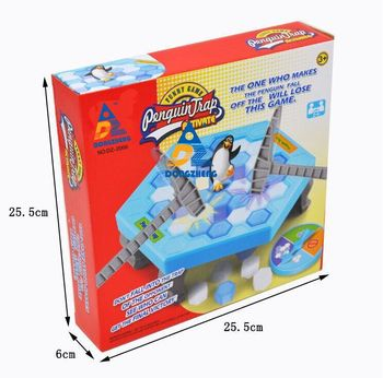Large Penguin Trap Activates Party Gear Indoor Board Game Ice Breaks Down Table Entertainment Toys For Children'S Birthday Toy - sale item Novelty & Gag Toys