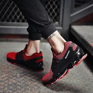 Image 5 - REETENE yaz erkek ayakkabı moda bahar açık ayakkabı erkekler rahat erkeklers ayakkabı rahat örgü ayakkabı erkekler için boyutu 36 48