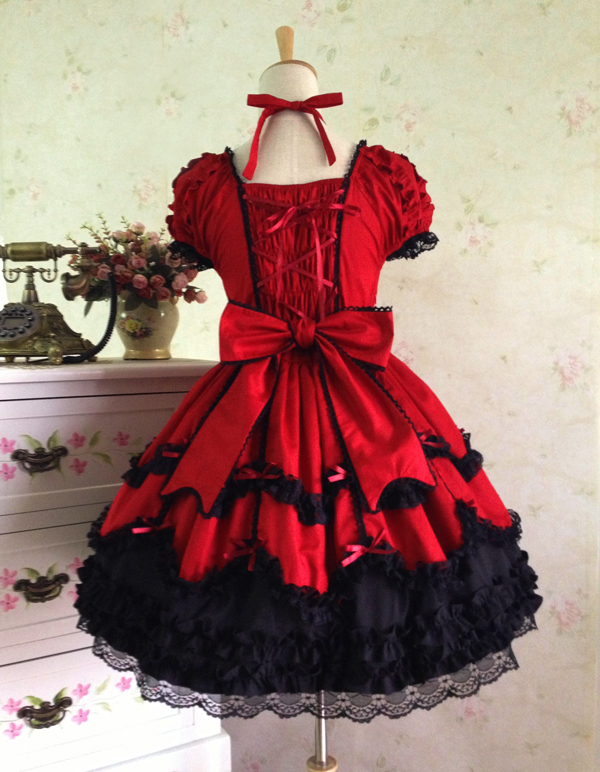 A4 Princess cosplay costume for girl lolita dress vintage medieval gothic dress women summer dress