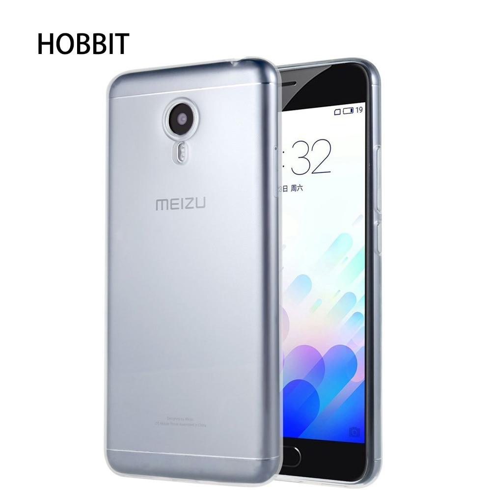 För Meizu M5 M5S M5C Väska Silikon Mjuk TPU Ultratunn genomskinlig - Reservdelar och tillbehör för mobiltelefoner