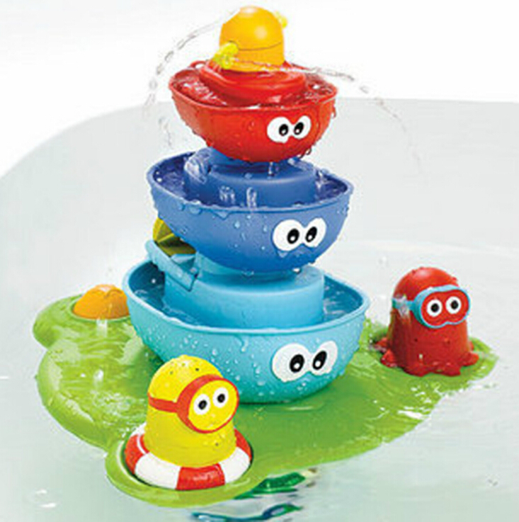 [Drôle] bébé bain jouer à l'eau outil jouet jouer robinets/boutonné musique pulvérisation douche électronique pulvérisation eau salle de bains jouets enfants cadeau