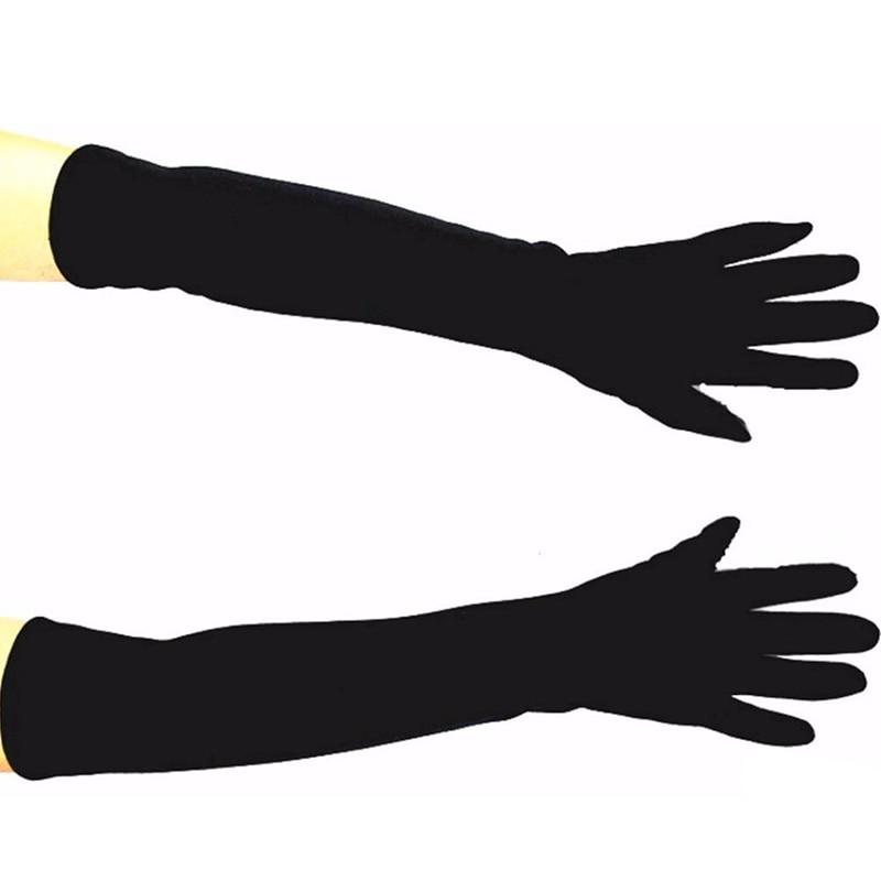 48 cm lange katoenen materiaal dames gebreide handschoenen over de - Kledingaccessoires - Foto 6