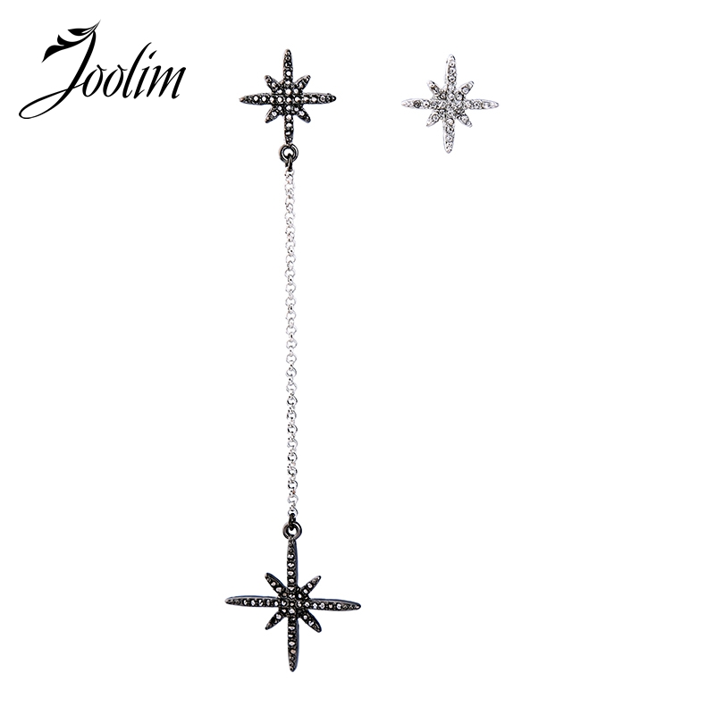 JOOLIM Jewelry Wholesale/2017 Asymmetric Earring Simple Earring Hot Trend Earring Fashion Jewelry Women Accessories Dropshipping