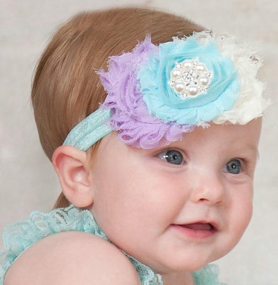 JRFSD 1PCS nové roztomilé módní novorozence čelenka květiny elastické čelenka vlasy kapely vlasy doplňky pro dívky TH-05
