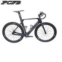 2017new FCFB Carbon Road Bike Frame Di2 And Mechanical 47 49 51cm Road Frame Fork Headset