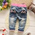 Nueva Llegada Mariposa Nudo Del Todo-Fósforo del bebé Pantalones Largos pantalones de la muchacha niños ropa bebés de los pantalones vaqueros pantalones harén bebé
