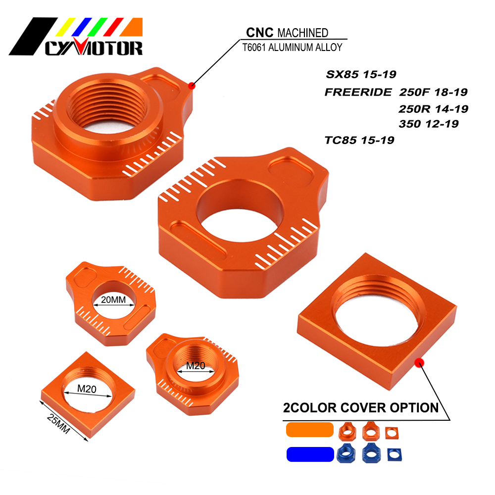 Motorcycle CNC Rear Adjuster Block Chain For <font><b>KTM</b></font> SX85 SX 85 FREERIDE 250F 250R <font><b>350</b></font> 2012 2013 <font><b>2014</b></font> 2015 2016 2017 2018 2019 image