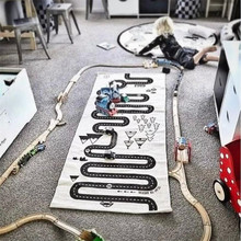 Baby play Games Mat Track Road printed Crawling Rugs Floor Carpet Room Decoration size 70*170cm