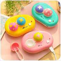 LIUSVENTINA Portable Cute Duck Mushroom Electric Automatic Contact Lens Case Washer Box Cleaner for Color Lenses Gift for Girls