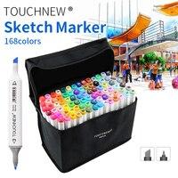 TOUCHNEW 30/40/60/80 Цвет двойной головкой маркеры для анимации рисунок пером эскизные ручки для рисования на спиртовой основе товары для рукоделия ...