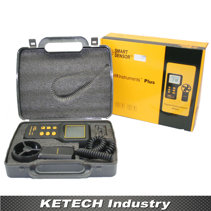 цены AR826 Handheld Digital Anemometer Air Flow Meter Wind Speed Gauge Tester 0.3~45m/s