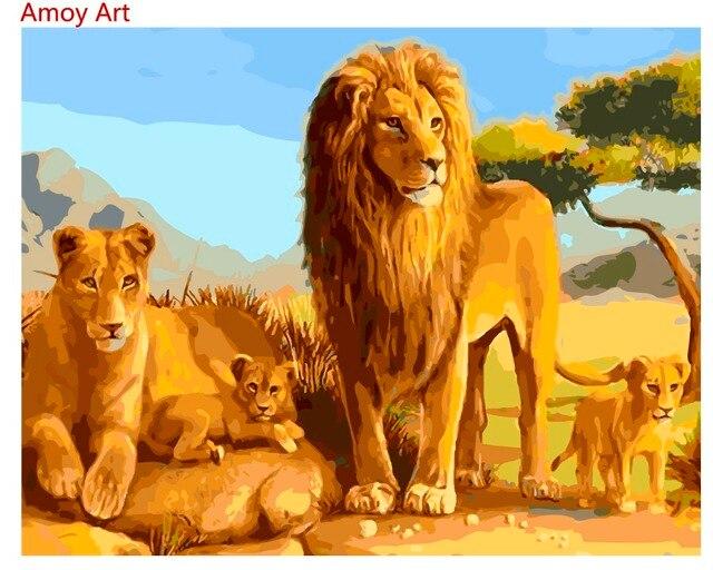 Coloriage Famille Africaine.Peinture A L Huile Abstraite Sans Cadre Peinture A La Main Par
