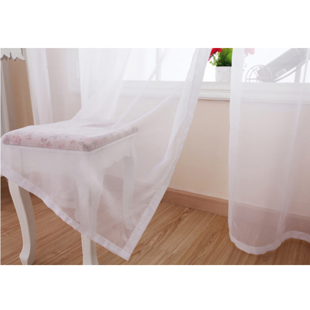 Puro Bianco Trasparente Solido Puro Tulle Nuova Decorazione Della Casa di Alta Filo Moderna Voile Singolo Pannello Per Camera Da Letto Cortina di WP184D