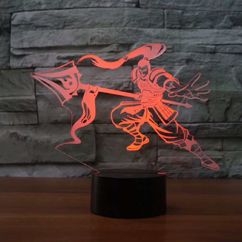 Creative led Hero Union Debon Explorer Table Lamp USB table desk Acrylic 3D light LED Lamp Shape Lampe Led Night light IY803811