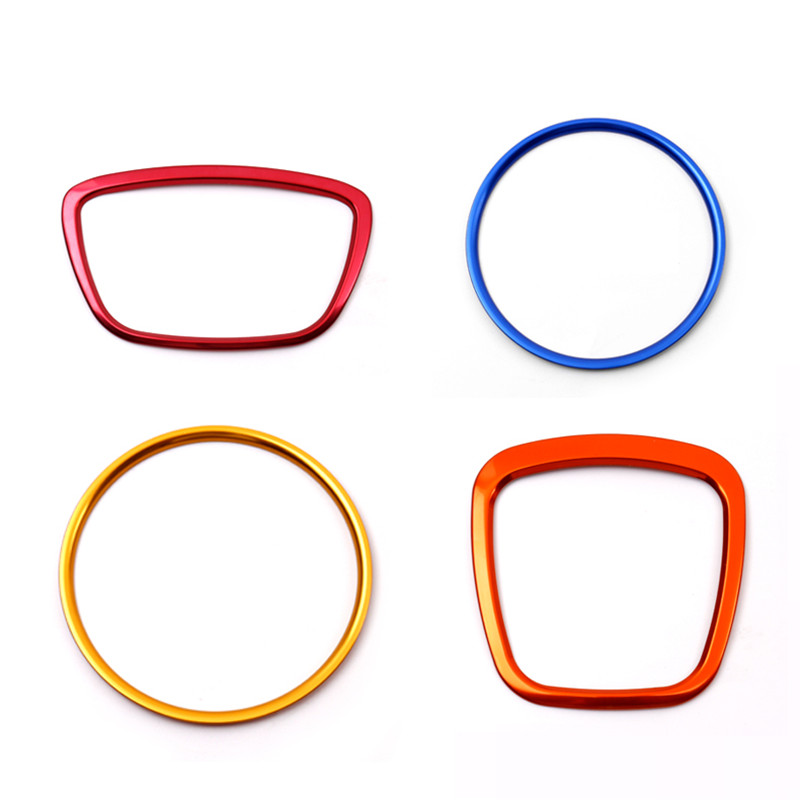 Image 4 - Car Steering Wheel Decorative Metal Ring Sticker For Audi A3 A4 Q3 Q5 A6 A8 Q7 Auto Interior Decal Cover Stickers Silver Rings-in Automotive Interior Stickers from Automobiles & Motorcycles