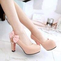 Damas doces rendas sapatos mulher primavera/outono de spike salto plataforma super high heel bombas borboleta 3 elegante da festa de mulheres sapatos