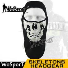 3481286a1f2a WOSPORT Vélo Moto Ski Vélo laine Polyester Crâne Masque Tour Squelette  Chapeau Balaclava Capot Cosplay Costume Masques Complets