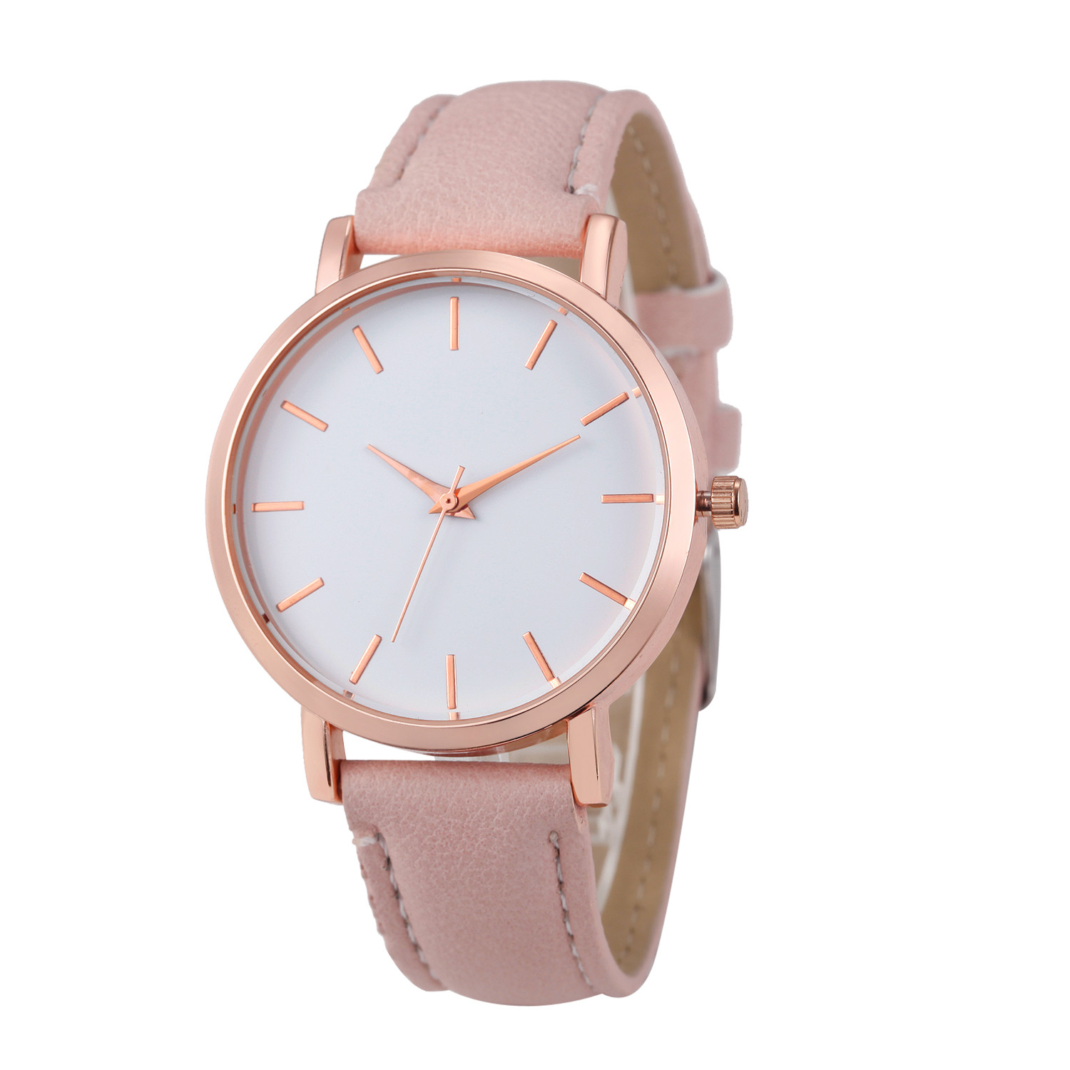 Fashion Lady Watch with Pink Leather Strap