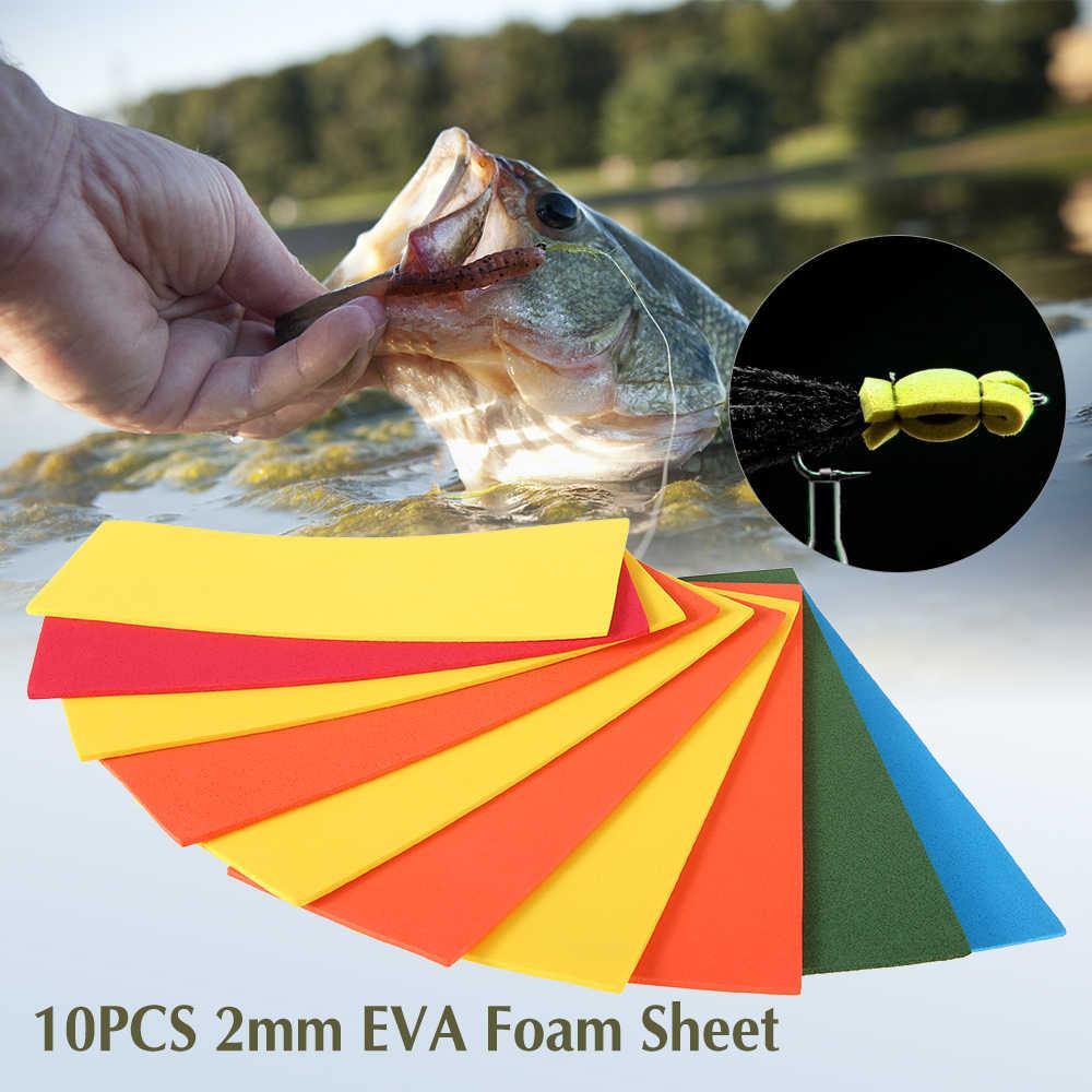 10 шт. 2 мм толстый лист пены EVA мушек пены Бумага плавающий Багги крикет тела мушек Материал