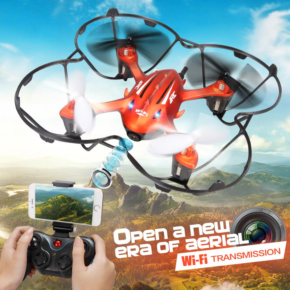 F16763 JJRC H6W Wifi FPV Video Real-time Transmission Headless Drone with 2.0MP HD Camera LED 2.4G 4CH Gyro RC Quadcopter wltoys v686g 4ch 5 8g fpv real time transmission 2 4g rc quadcopter with 2 0mp camera headless mode auto return function us plug