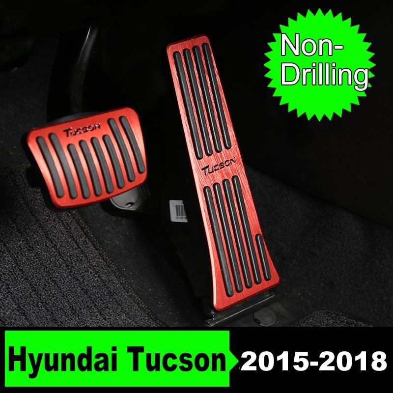 Non-Foratura Auto Acceleratore Gas Carburante Freno a Pedale Della Frizione Caso Della Copertura Per Hyundai Tucson 2015 2016 2017 2018 IN Accessori