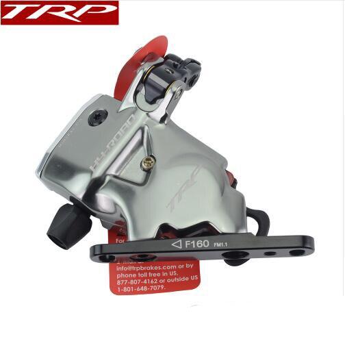 TRP Trp HY/RD câble de montage plat actionné frein à disque hydraulique avant arrière 160mm, sans ou sans Rotor hy-road CX étrier de vélo gris