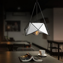 Modern minimalist pendant light creative simple lron LED hanging kitchen dinner room cafe bar lamp indoor lights e27