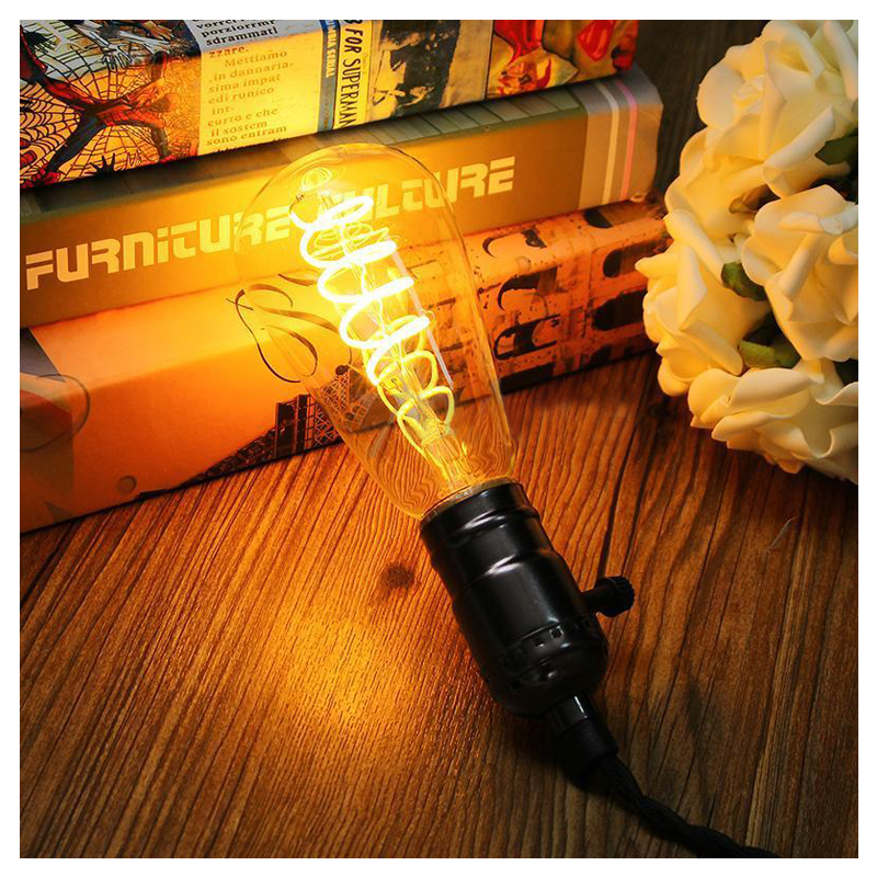 Vintage Industrial Retro Edison Glass E27 LED Bulb Light Filament Lamp lightinbox good glass bulb lamp candle light lamp e27 e14 antique led edison bulb 220v retro led filament light vintage led