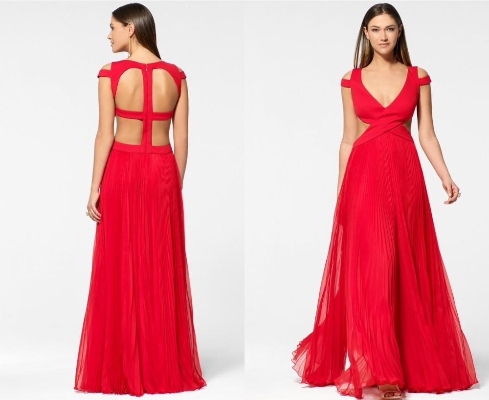 Simple Cheap Chiffon Long Evening Dresses V neck Fashion Design ...