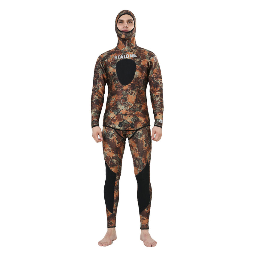 Top quality new 7mm CR neoprene diving suit camo spearfishing wetsuit (2)