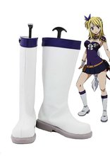 Fairy Tail Lucy Cosplay Shoes Boots Custom Made White
