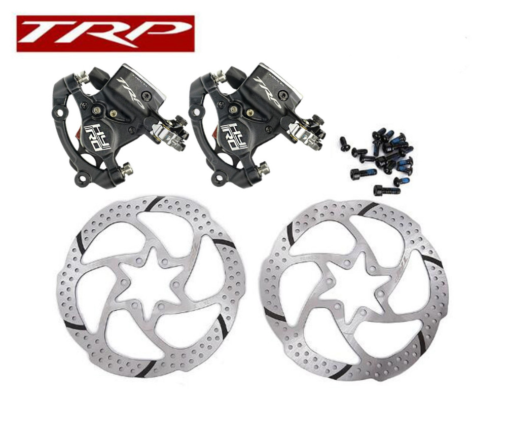 TRP HY//RD Post Mount Front /& Rear Cable-Actuated Hydraulic Disc Brake set 160mm