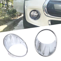New 2x CHROME Front Fog Light Covers Trims for 3rd Gen MINI COOPER F55 F56 F57 Car Sticker Auto Exterior Accessories Silver